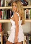 Adorable Rachel Strips Out Of Her Summer Dress - Picture 1