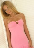 Blonde Teen Rachel Looking Great In This Pink Dress - Picture 2